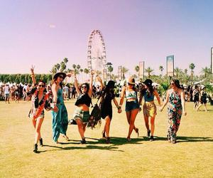 friends, coachella, and summer image