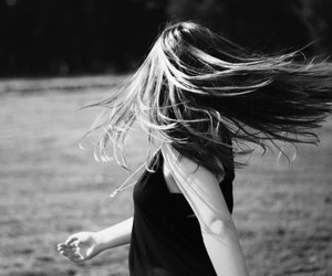 black and white, photography, and wind image