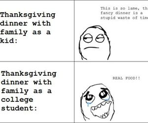 food, funny, and college image