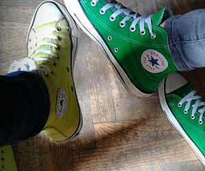 best friends, converse, and love image