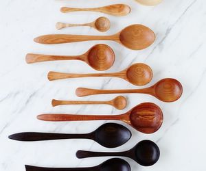 wood and wooden spoon image