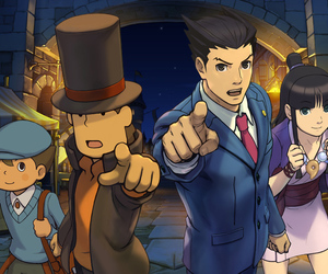 layton and ace attorney image
