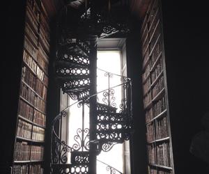 books, library, and bookshelf image