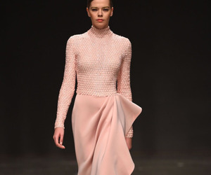 catwalk, cotton candy pink, and dress image