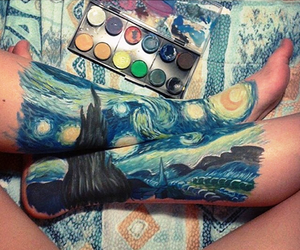 art, van gogh, and legs image