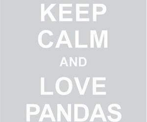 panda, love, and keep calm image