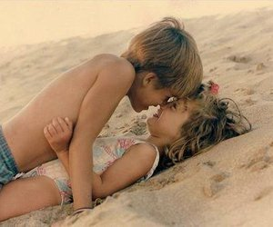 babys, love, and beach image