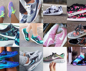 all star, blue shoes, and Collage image