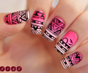 girl, pink, and nail polish image