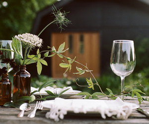 deco, lunch, and flowers image