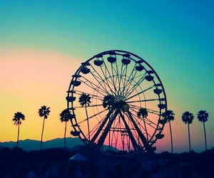 coachella, summer, and sunset image