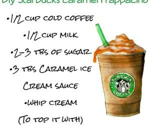 starbucks, diy, and caramel image