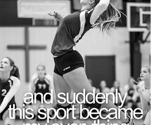 life, volleyball, and love image