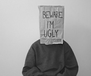 ugly, black and white, and beware image