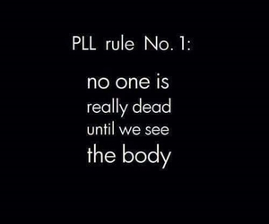 pll, pretty little liars, and dead image