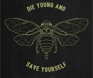 black, die young, and gold image