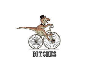 bitch, bicycle, and dinosaur image