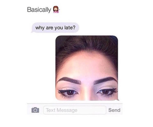 ?, are, and eyebrow image