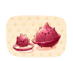 anime, onion, and art image