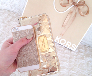 gold, iphone, and luxury image