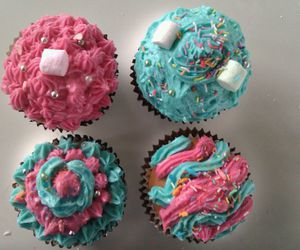 colors, muffins, and pink image