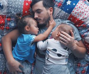 baby, family, and dad image