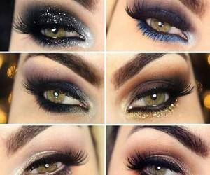 makeup, make-up, and eyeshadow image