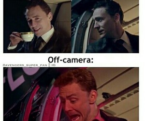 tom hiddleston, funny, and loki image