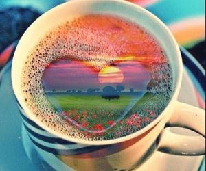 heart, coffee, and coffe image