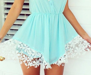 summer, dress, and blue image