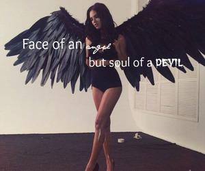 angel, black, and Devil image