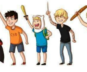 adventure time, harry potter, and percy jackson image