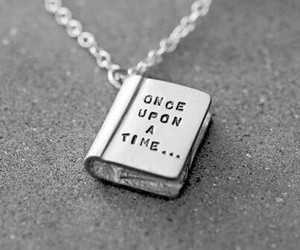 book, once upon a time, and necklace image