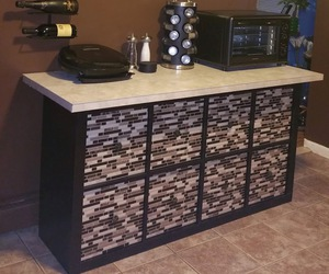cabinet, counter, and custom image