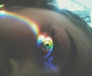 eye, girl, and eyes image