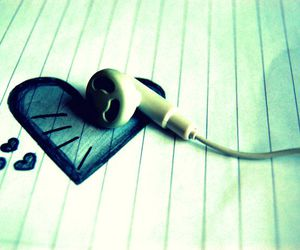 heart, music, and love image