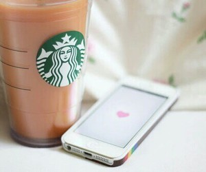 starbucks, iphone, and we heart it image