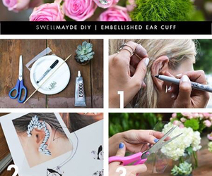 accessories, diy, and earrings image