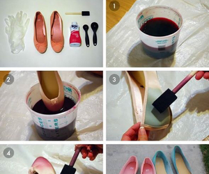 ballerinas, diy, and ballet flats image
