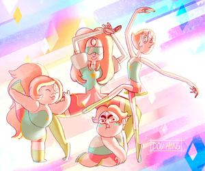 steven universe, pearl, and garnet image