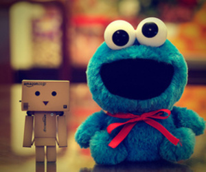 danbo and cookie monster image