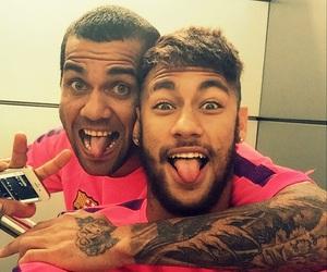 neymar, dani alves, and fc barcelona image