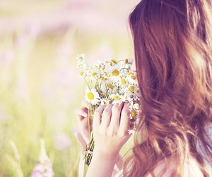 flowers, girl, and girls image