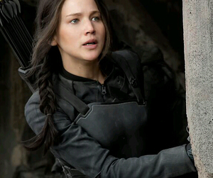 black, bow, and hunger games image