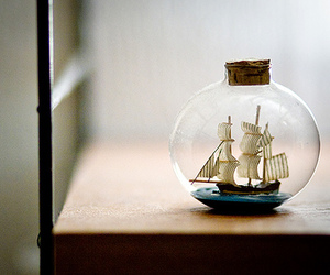 ship, bottle, and photography image