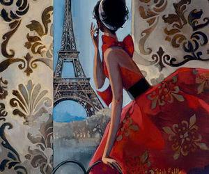 paris, art, and red image
