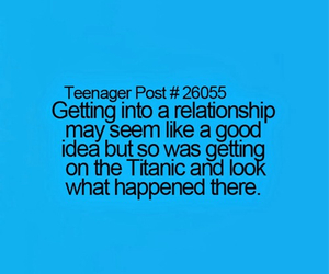 Relationship, quote, and titanic image