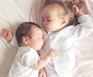 baby, cute, and sisters image