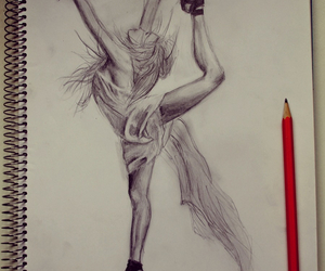 drawing, art, and dance image