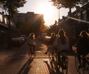 biking, bycicle, and teen image